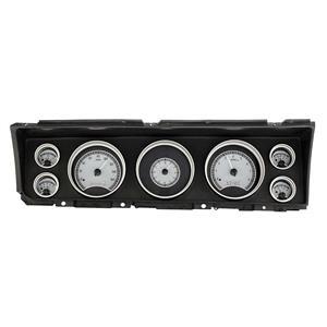 Dakota Digital 67 Chevy Impala/CapriceAnalog Gauges Silver White VHX-67C-IMP-S-W