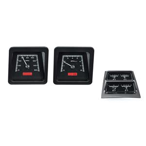 Dakota Digital 1969 Chevy Camaro Analog Gauges Black Alloy Red VHX-69C-CAC-K-R