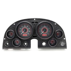 Dakota Digital 63-67 Chevy Corvette Analog Gauges Carbon Red VHX-63C-VET-C-R