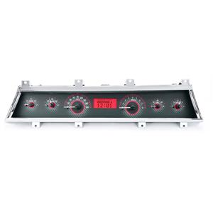 1966-67 Chevy Chevelle VHX System, Carbon Fiber Face - Red Display