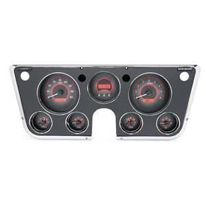Dakota Digital 67-72 Chevy Truck VHX Analog Gauges Carbon Red w/ Carrier