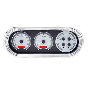 1963-65 Chevy Nova VHX System, Silver Face - Red Display