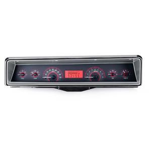 1966-67 Chevy Nova VHX System, Carbon Fiber Face - Red Display