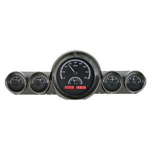 Dakota Digital 59-60 Chevy Impala Analog Gauges Black Alloy Red VHX-59C-IMP-K-R