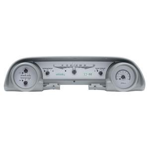 Dakota Digital 63-64 Ford Galaxie Analog Gauges Silver White VHX-63F-GAL-S-W