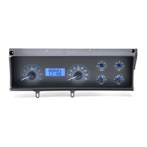 Dakota Digital 70-72 Chevy Malibu Analog Gauges Carbon Blue VHX-70C-MAL-C-B