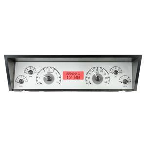 Dakota Digital 77 - 90 Chevy Impala / Caprice VHX Analog Dash System Silver Alloy Red VHX-77C-CAP-S-