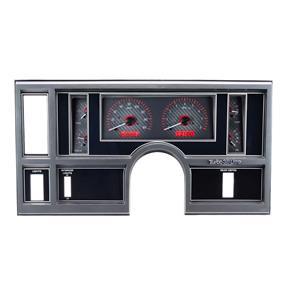 Dakota Digital 84-87 Buick Regal Analog Gauges Carbon Fiber Red VHX-84B-REG-C-R