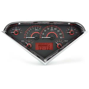 55-59 Chevy Truck VHX System, Carbon Fiber Face - Red Display