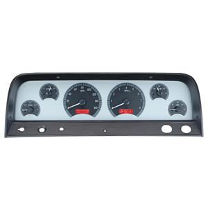 1964-66 Chevy Truck VHX System, Silver Face - Red Display