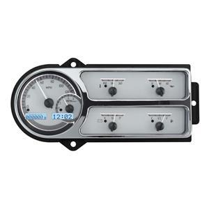 Dakota Digital 48 49 50 Ford Pickup Truck Gauge System Silver Alloy White VHX-48F-PU-S-W