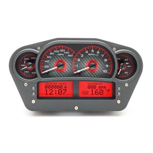 Race Inspired VHX System, Carbon Fiber Style Face, Red Display