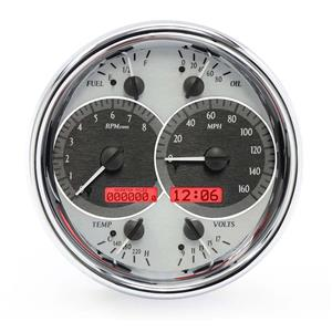 Single Round VHX System, Satin Alloy Style Face, Red Display