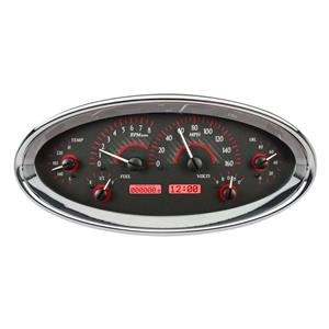 Universal Oval VHX System, Carbon Fiber Style Face, Red Display