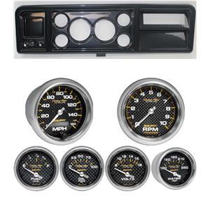 73-79 Ford Truck Carbon Dash Carrier w/ Auto Meter Carbon Fiber Electric Gauges