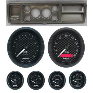 """73-79 Ford Truck Silver Dash Carrier w/ Auto Meter 3-3/8"""" GT Gauges"""