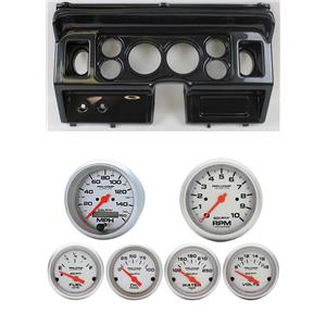 80-86 Ford Truck Carbon Dash Carrier w/ Auto Meter Ultra-Lite Electric Gauges
