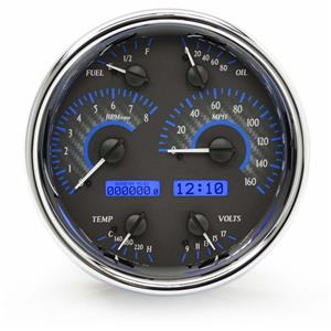Single Round VHX System, Carbon Fiber Style Face, Blue Display