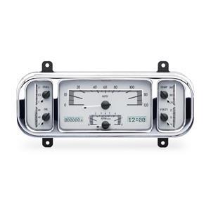 Dakota Digital 1937-38 Chevy Car Analog Gauges Silver Alloy White VHX-37C-S-W