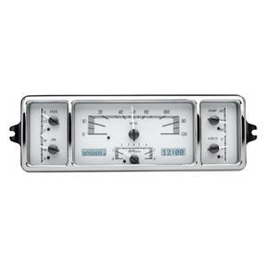 Dakota Digital 39 Chevy Car Analog Dash Gauges System Silver Alloy White VHX-39C-S-W