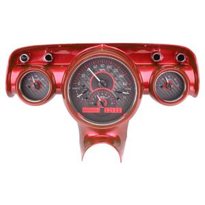 1957 Chevy Car VHX System Carbon Fiber Style Face - Red Display