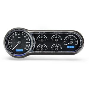 1953-54 Chevy Car VHX System, Black Alloy Style Face, Blue Display