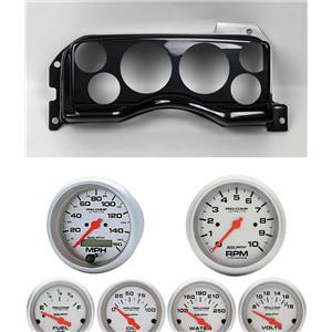 90-93 Mustang Carbon Dash Carrier w/ Auto Meter Ultra Lite Electric Gauges