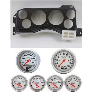 87-89 Mustang Black Dash Carrier w/ Auto Meter Ultra Lite Electric Gauges