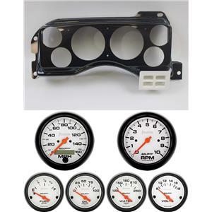 87-89 Mustang Carbon Dash Carrier w/ Auto Meter Phantom Electric Gauges