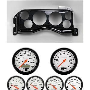 90-93 Mustang Carbon Dash Carrier w/ Auto Meter Phantom Electric Gauges