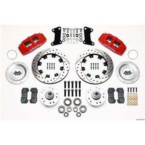"Wilwood 67-69 Camaro Firebird Front Disc Brake Kit 12"" Drilled Rotor Red Caliper"