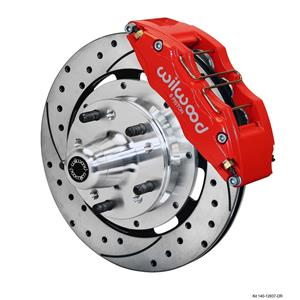 """Wilwood 78-88 Monte Carlo Front Disc Brake Kit 12.19"""" Drilled Rotor Red"""