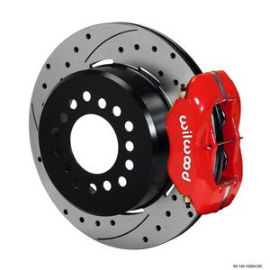 "Wilwood Rear Disc Brake Kit 140-10094-DR GM Truck 12"" Drilled Rotor Red Calipers"