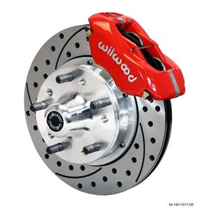 "Wilwood Mustang II  Front Disc Brake 11"" Drilled Rotor Red Caliper"