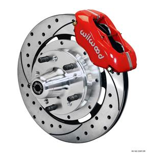 "Wilwood 78-88 Monte Carlo Front Disc Big Brake Kit 12.19"" Drilled Rotor Red"