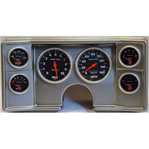 82-88 Chevy G Body Silver Dash Carrier w/Auto Meter Sport Comp Electric Gauges