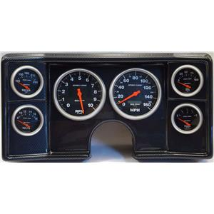 82-88 Chevy G Body Carbon Dash Carrier w/Auto Meter Sport Comp Electric Gauges