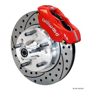 "Wilwood Mopar A Body Front Disc Brake Kit 11"" Drilled Rotor Red Caliper"