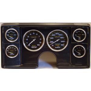 78-81 Chevy G Body Carbon Dash Carrier w/Auto Meter Carbon Gauges