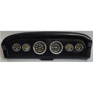 61-66 Ford Truck Carbon Dash Carrier w/Auto Meter Carbon Fiber Gauges