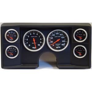 78-81 Chevy G Body Black Dash Carrier w/ Auto Meter Sport Comp Electric Gauges