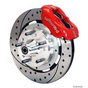 "Wilwood 64-72 Chevelle A-Body Front Disc Big Brake Kit 12"" Drilled Rotor Red"