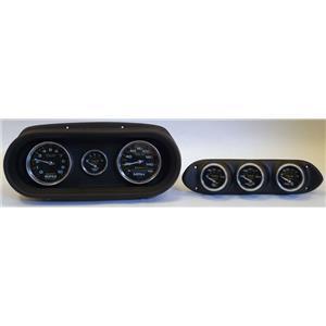 65 Nova Black Dash Carrier w/Auto Meter Carbon Gauges