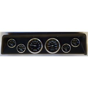66 67 Nova Black Dash Carrier w/Auto Meter Carbon Fiber Gauges