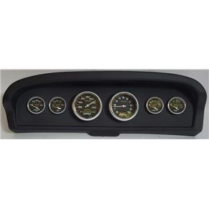 61-66 Ford Truck Black Dash Carrier w/Auto Meter Carbon Fiber Gauges