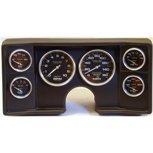 82-88 Chevy G Body Black Dash Carrier w/ Auto Meter Carbon Gauges