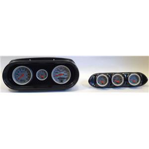 65 Nova Carbon Dash Carrier w/Auto Meter Ultra Lite Electric Gauges