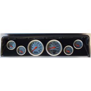 66 67 Nova Carbon Dash Carrier w/Auto Meter Ultra Lite Electric Gauges