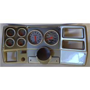 """73-83 GM Truck Silver Dash Carrier Auto Meter Ultra Lite Electric 5"""" Gauges"""
