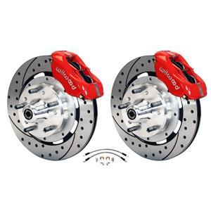 """Wilwood 64-72 Chevelle A-Body Front Disc Big Brake Kit Drilled 13"""" w/ Flex Hoses"""